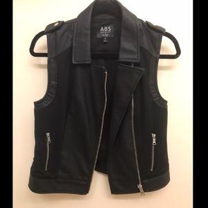 Faux Leather/cloth Vest